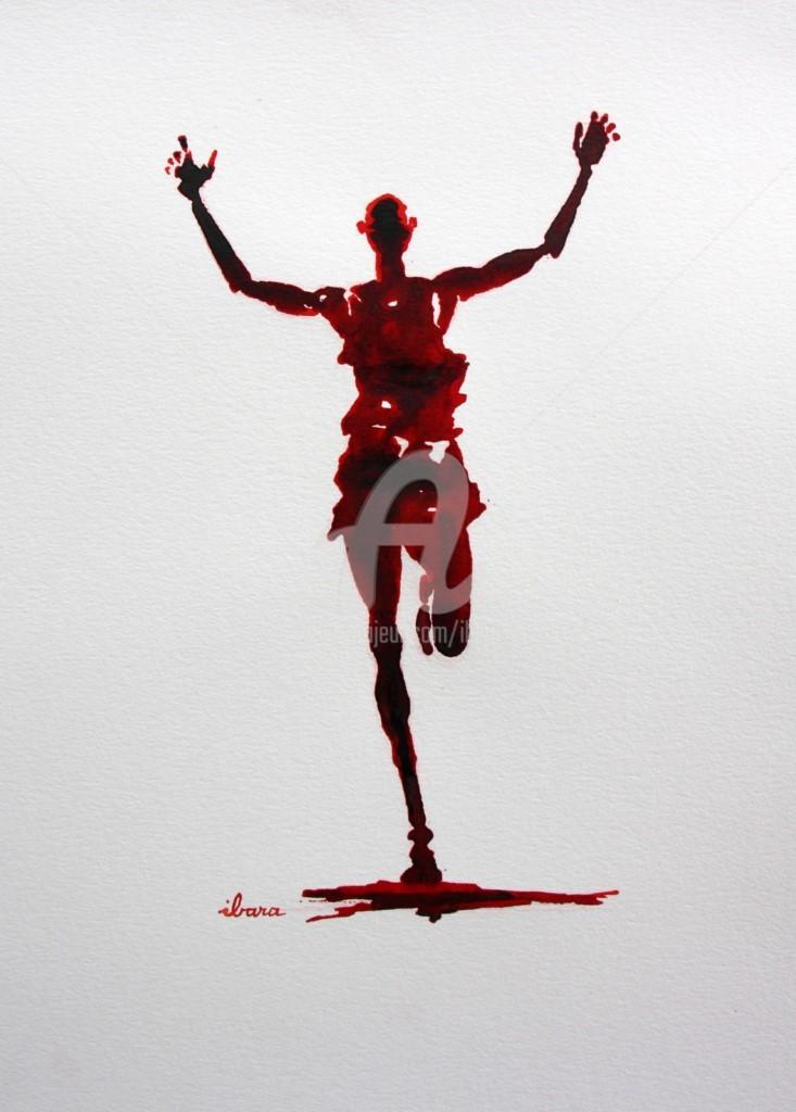 Henri Ibara - Arrivée marathon