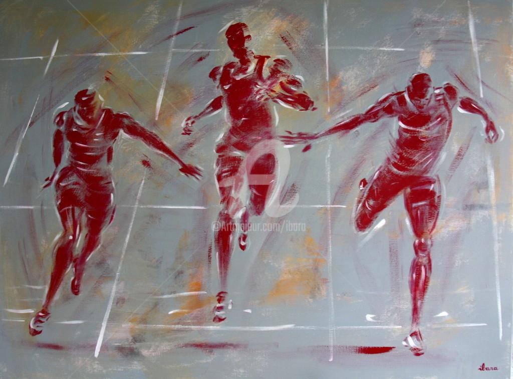 Henri Ibara - Athlétisme: arrivée 200m