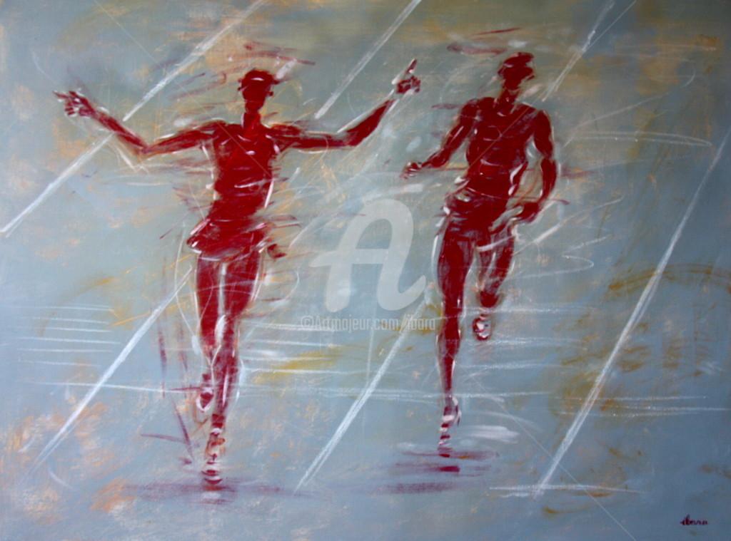 Henri Ibara - Athétisme: arrivée 10000m