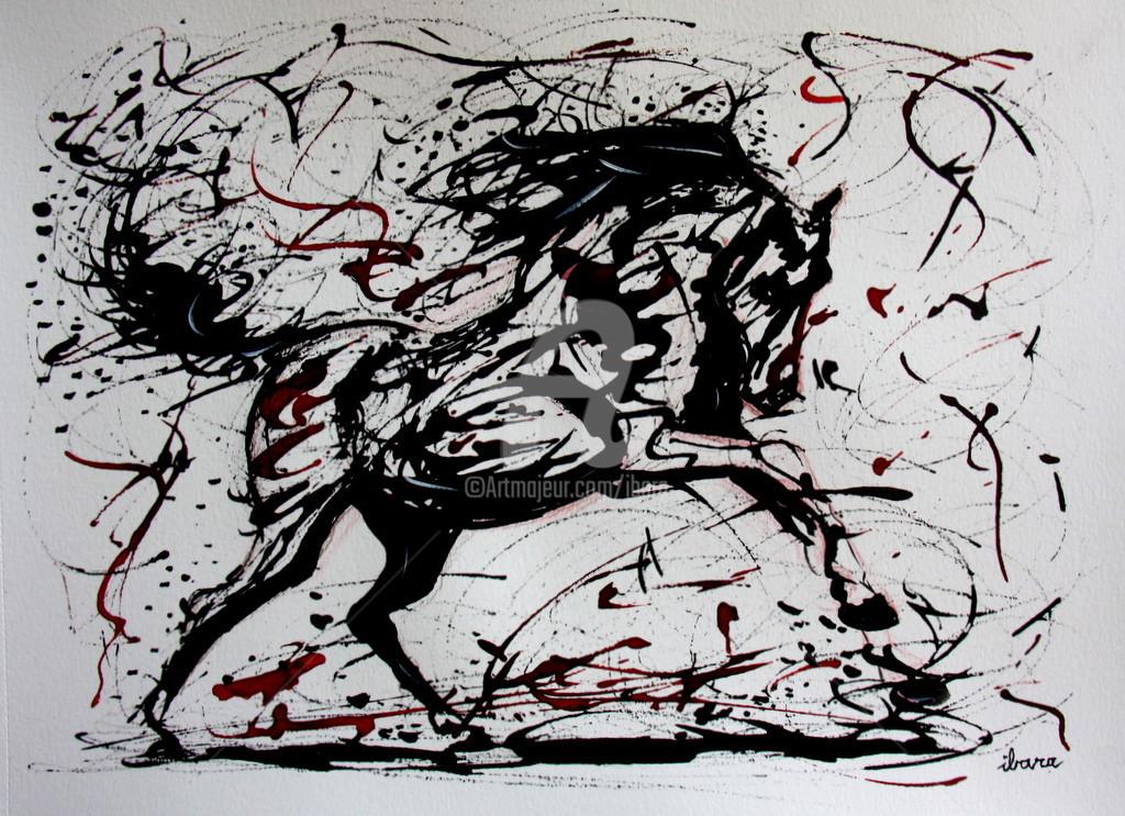 Henri Ibara - Cheval noir