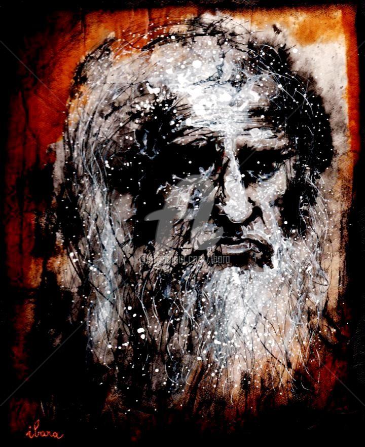 Henri Ibara - Portrait de Léonard de Vinci