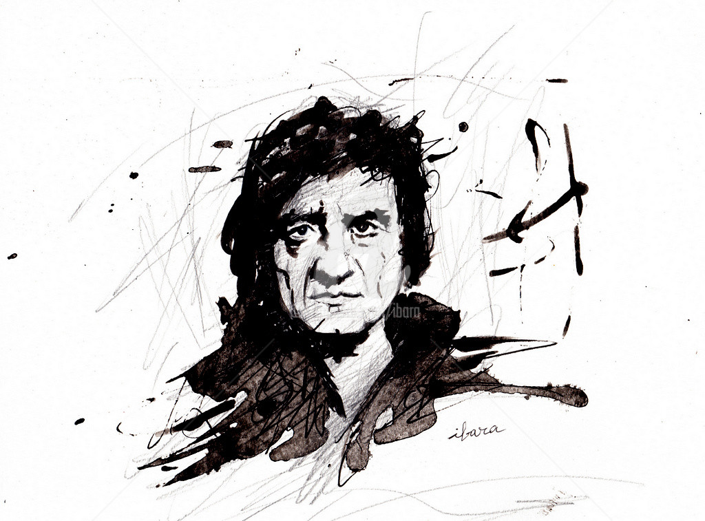 Henri Ibara - Portrait de Johnny Cash