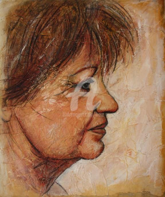 Henri Ibara - Portrait de Catherine de profil