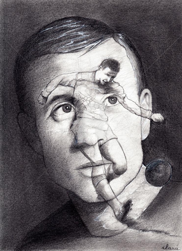 Henri Ibara - Portrait de Raymond Kopa
