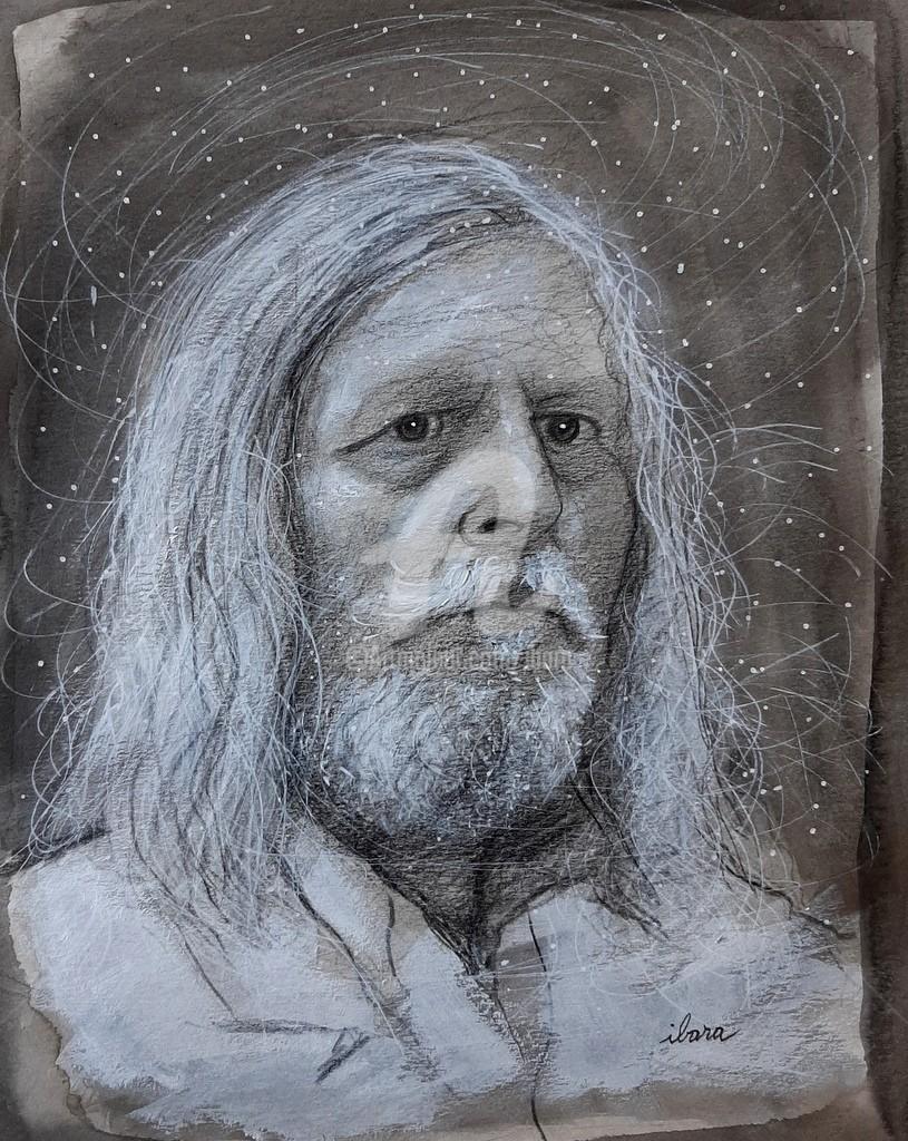 Henri Ibara - Portrait de professeur Didier Raoult