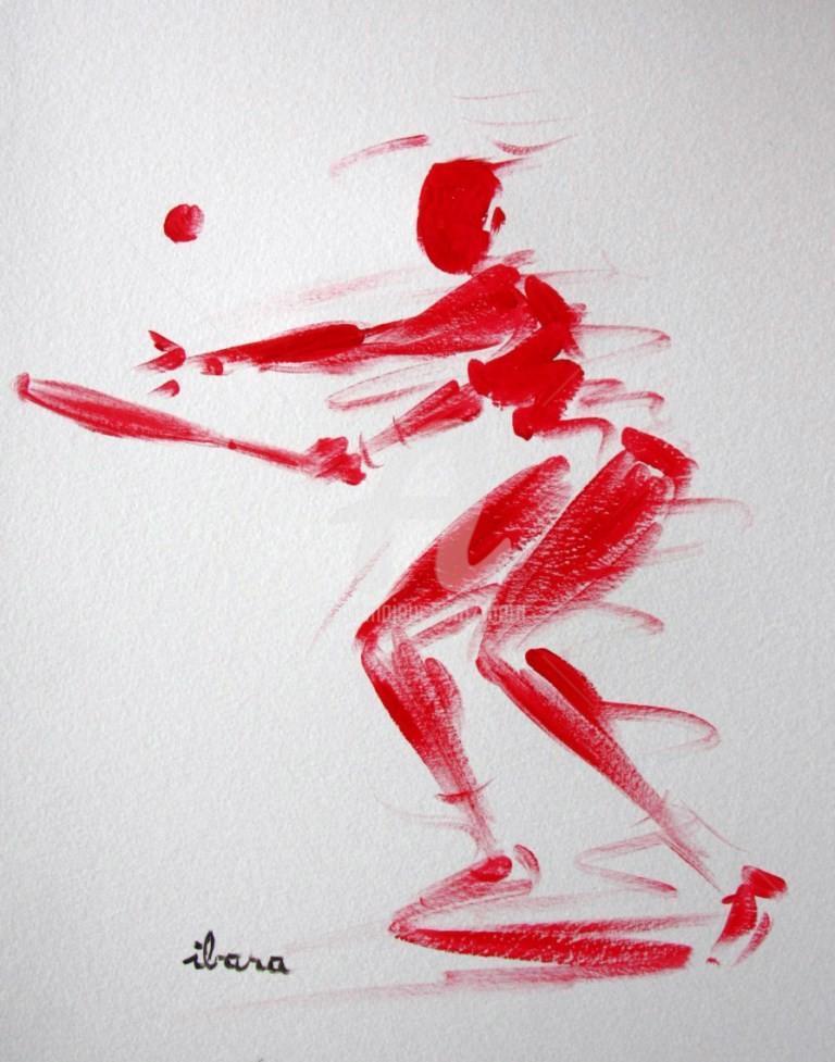 Henri Ibara - tennis-dessin-calligraphique