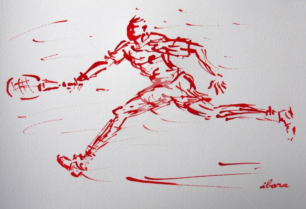 Henri Ibara - tennis-n-7-dessin-calligraphique-d-ibara-a-l-encre-rouge.jpg