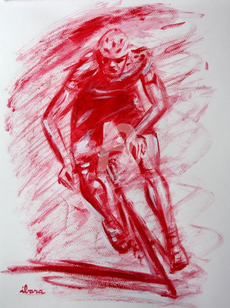 Henri Ibara - cyclisme-n-2-dessin-calligraphique-peinture-rouge-ibara.jpg