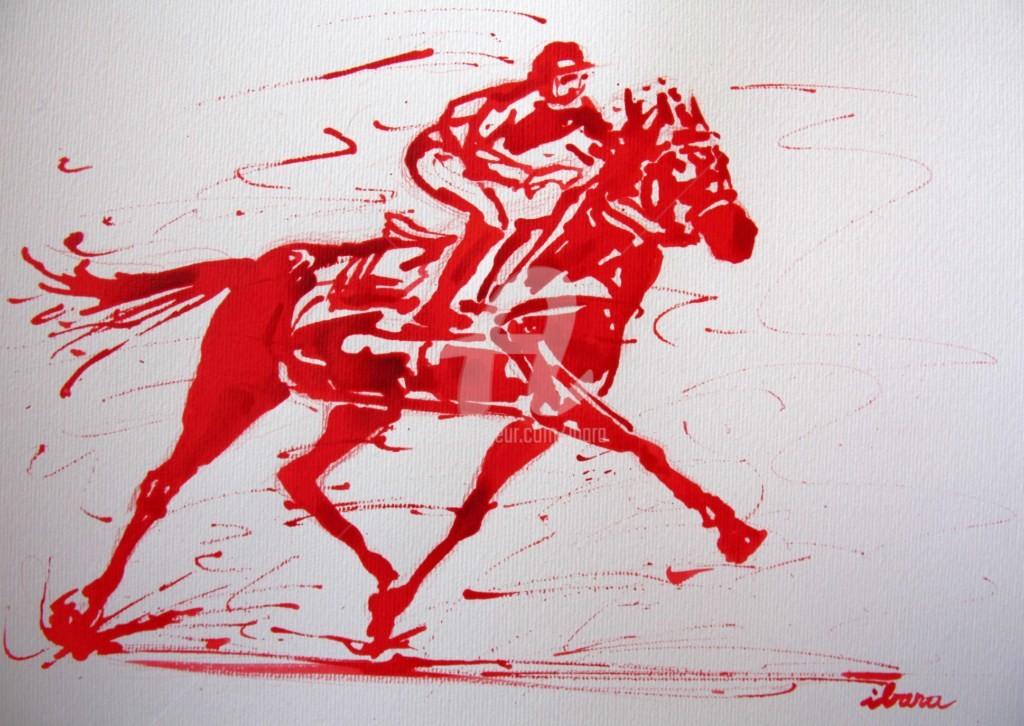 Henri Ibara - course-hippique-n-1-dessin-calligraphique-d-ibara-a-l-encre-rouge.jpg