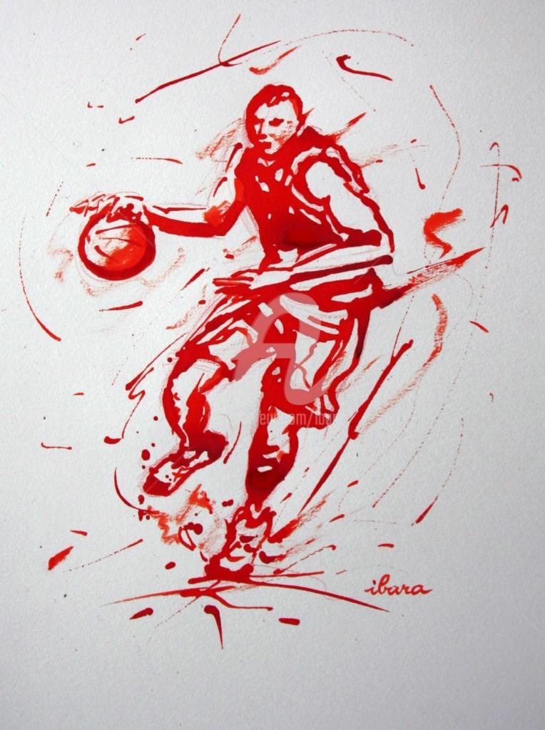 Henri Ibara - basket-n-12-dessin-calligraphique-d-ibara-a-l-encre-rouge.jpg