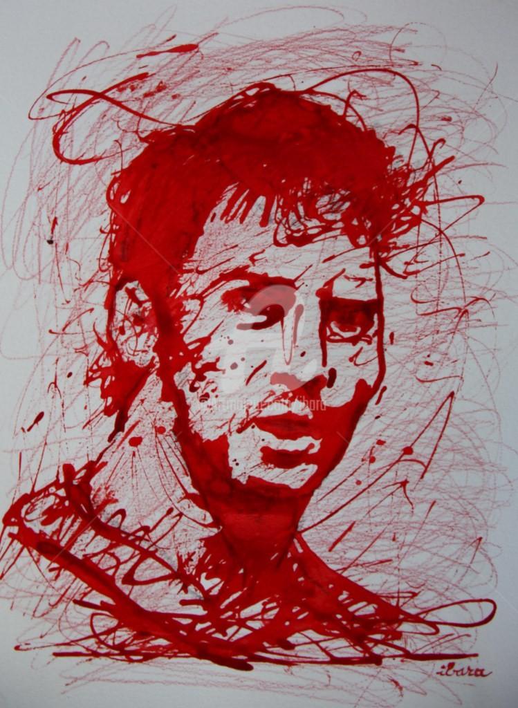 Henri Ibara - portrait-de-lionel-messi-dessin-encre-rouge-sur-papier-aquarelle-300gr-par-ibara-n-1.jpg