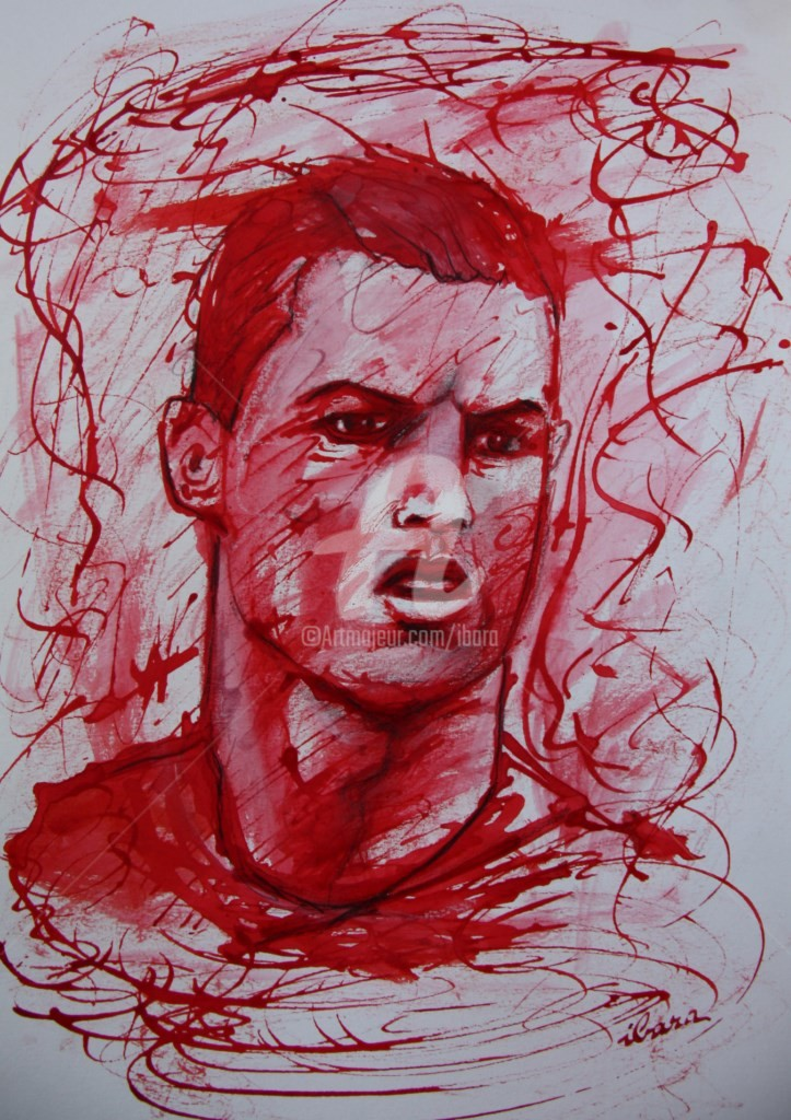 Henri Ibara - portrait-de-cristiano-ronaldo-dessin-encre-rouge-sur-papier-aquarelle-300gr-par-ibara-n-2.jpg