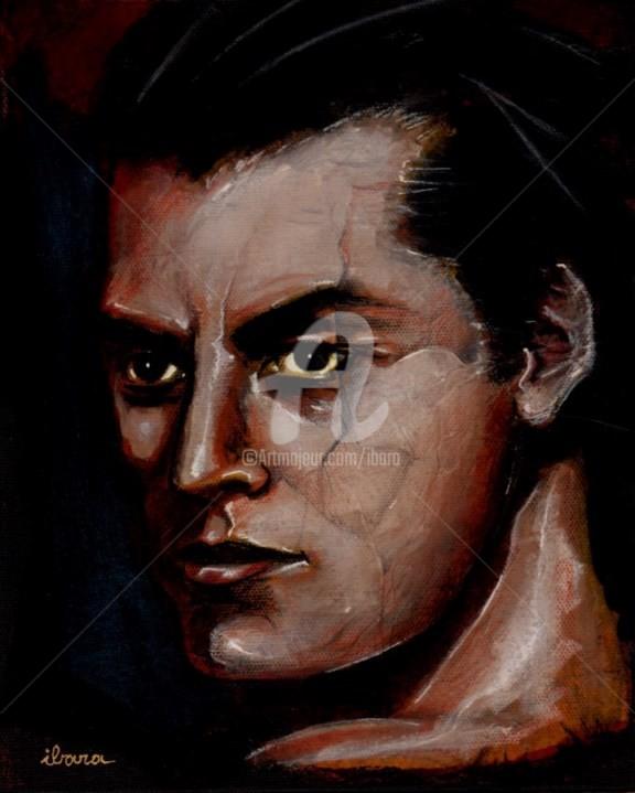 Henri Ibara - portrait-de-johnny-weissmuller-peinture-acrylique-sur-toile-par-ibara-format-27cm-sur-22cm.jpg