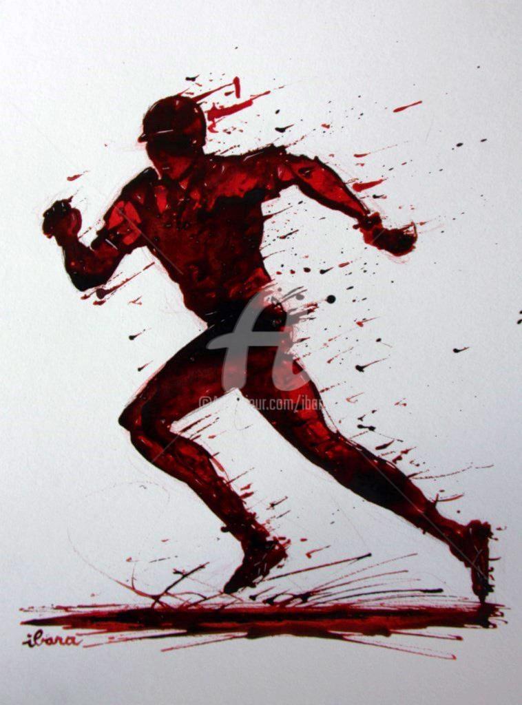 Henri Ibara - baseball-n-2-dessin-d-ibara-a-l-encre-rouge-et-sanguine-sur-papier-aquarelle-300gr-format-30cm-sur-42cm.jpg