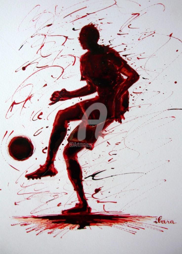 Henri Ibara - football-n-57-dessin-d-ibara-a-l-encre-rouge-et-sanguine-sur-papier-aquarelle-300gr-format-30cm-sur-42cm.jpg