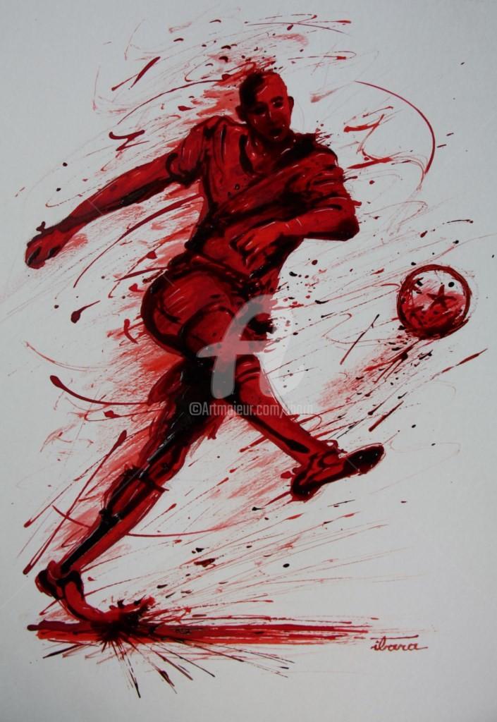 Henri Ibara - football-n-59-dessin-d-ibara-a-l-encre-rouge-et-sanguine-sur-papier-aquarelle-300gr-format-30cm-sur-42cm.jpg