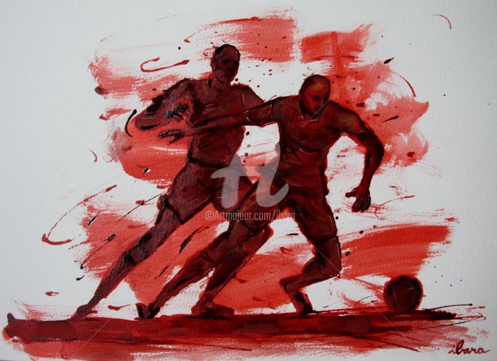 Henri Ibara - football-n-61-dessin-d-ibara-a-l-encre-rouge-et-sanguine-sur-papier-aquarelle-300gr-format-30cm-sur-42cm.jpg