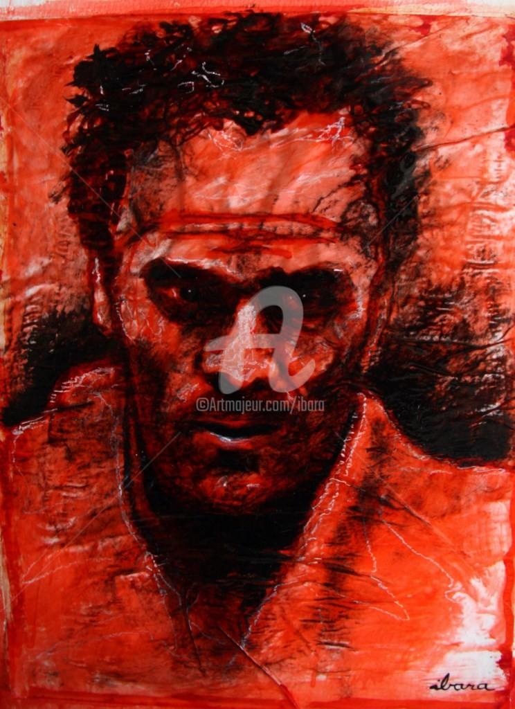 Henri Ibara - portrait-de-marcel-cerdan-dessin-d-ibara-a-l-encre-rouge-et-sanguine-sur-papier-aquarelle-300gr-froisse-format-30cm-sur-42cm.jpg