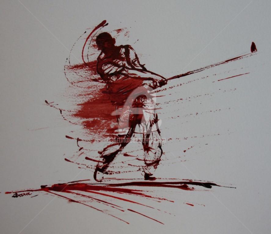 Henri Ibara - golf-n-12-dessin-d-ibara-encre-rouge-et-sanguine-sur-papier-aquarelle-300gr-format-30cm-sur-42cm-d-ibara.jpg