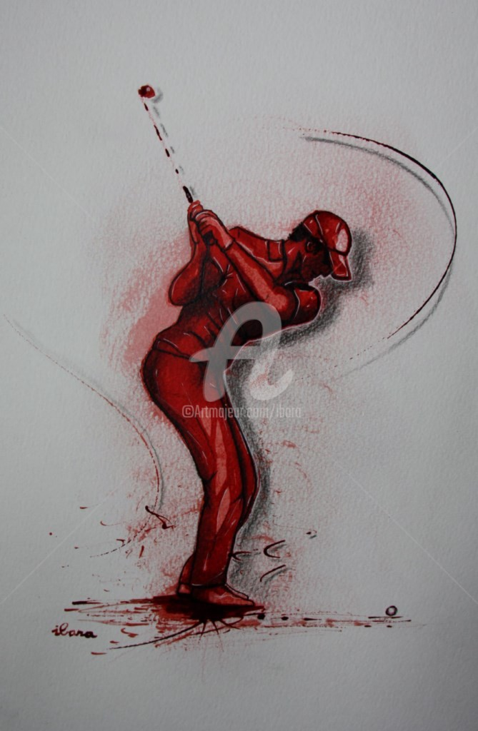 Henri Ibara - golf-n-14-dessin-d-ibara-encre-rouge-sanguine-et-crayon-sur-papier-aquarelle-300gr-format-30cm-sur-42cm-d-ibara.jpg