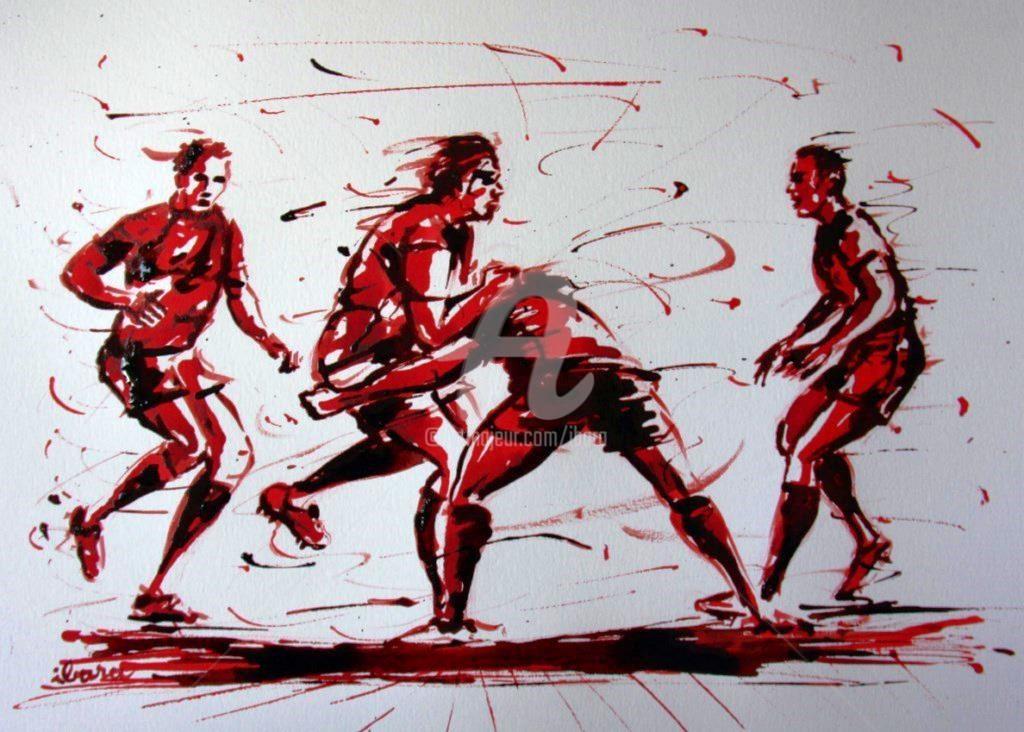 Henri Ibara - rugby-n-38-dessin-d-ibara-encre-rouge-et-sanguine-sur-papier-aquarelle-format-30cm-sur-42cm.jpg