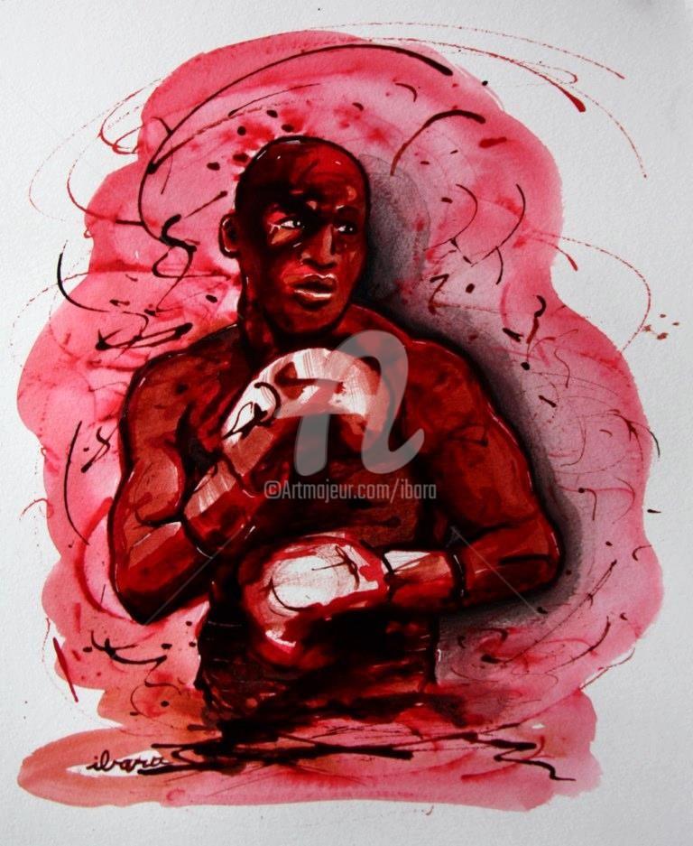 Henri Ibara - boxe-n-5-dessin-d-ibara-a-l-encre-rouge-et-sanguine-sur-papier-aquarelle-300gr-format-30cm-sur-42cm.jpg