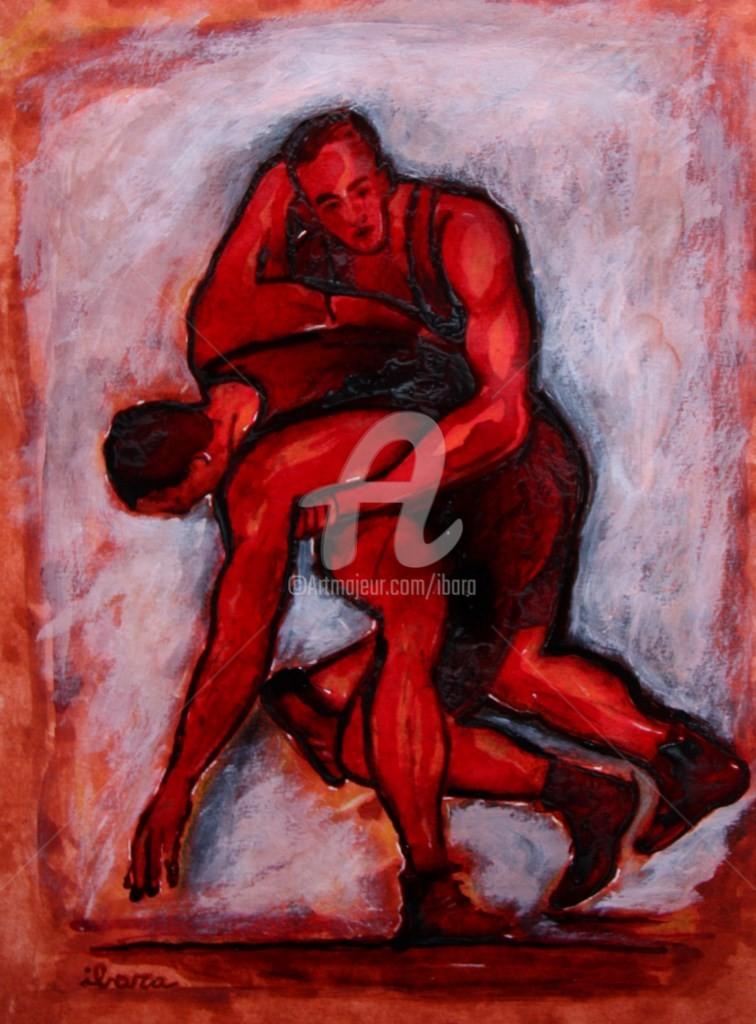Henri Ibara - lutte-encre-et-peinture-d-ibara-sur-papier-aquarelle-300gr-format-30cm-sur-42cm.jpg