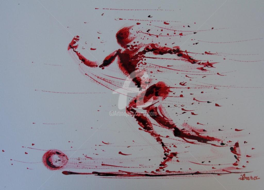 Henri Ibara - football-n-75-dessin-d-ibara-a-l-encre-rouge-et-sanguine-sur-papier-aquarelle-300gr-format-30cm-sur-42cm.jpg