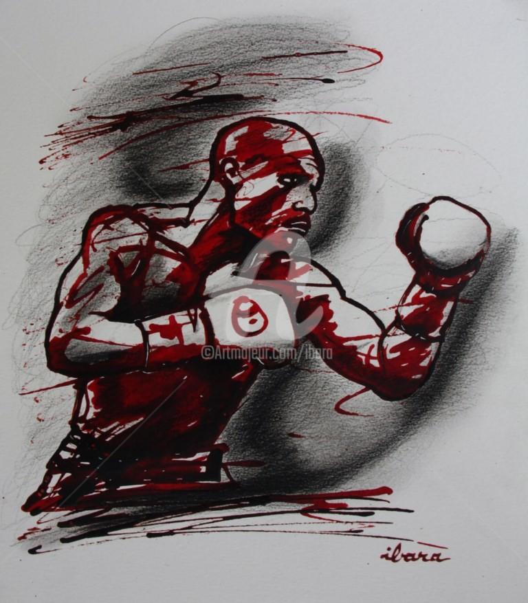 Henri Ibara - boxe-n-6-dessin-d-ibara-a-l-encre-rouge-sanguine-et-crayon-noir-sur-papier-aquarelle-300gr-format-30cm-sur-42cm.jpg