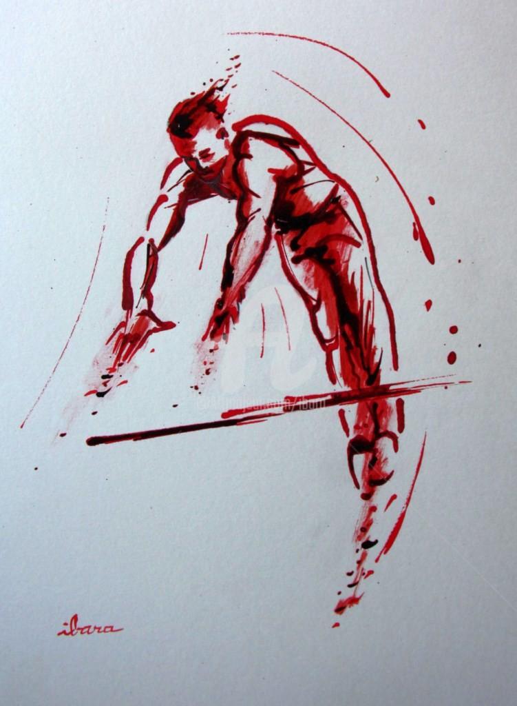 Henri Ibara - gymnastique-barre-fixe-n-2-dessin-d-ibara-a-l-encre-rouge-et-sanguine-sur-papier-aquarelle-300gr-format-30cm-sur-42cm.jpg