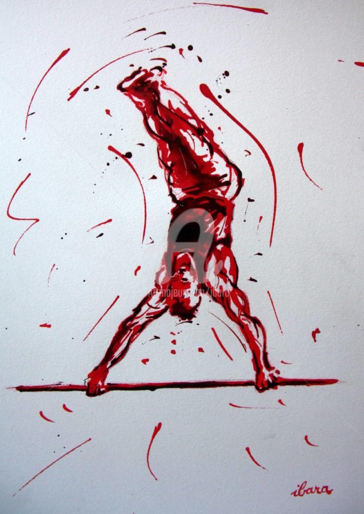 Henri Ibara - gymnastique-barre-fixe-n-1-dessin-d-ibara-a-l-encre-rouge-et-sanguine-sur-papier-aquarelle-300gr-format-30cm-sur-42cm.jpg
