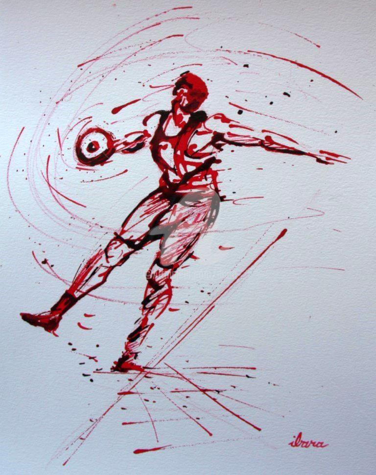 Henri Ibara - lancement-du-disque-n-3-dessin-d-ibara-encre-rouge-et-sanguine-sur-papier-aquarelle-300gr-format-30cm-sur-42cm.jpg