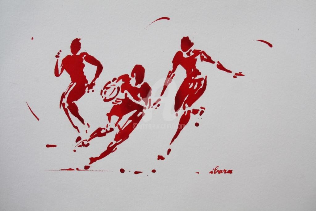 Henri Ibara - rugby-n-43-dessin-d-ibara-encre-rouge-sur-papier-aquarelle-format-30cm-sur-42cm.jpg