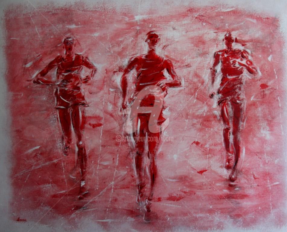 Henri Ibara - marathon-n-4-peinture-acrylique-sur-toile-par-ibara-format-1m-sur-81-cm.jpg