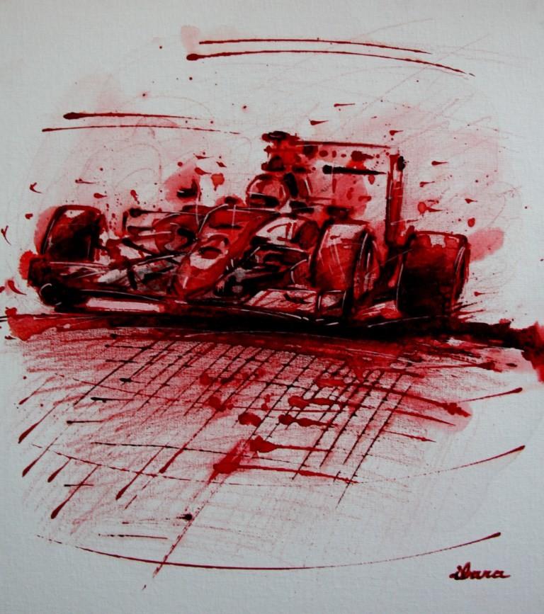 Henri Ibara - formule1-peinture-acrylique-et-sanguine-sur-carton-toile-format-50cm-sur-40cm-par-ibara.jpg