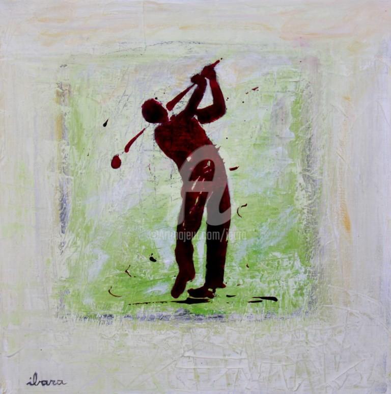 Henri Ibara - golf-n-20-peinture-d-ibara-acrylique-sur-toile-format-30cm-sur-30cm-encadre.jpg