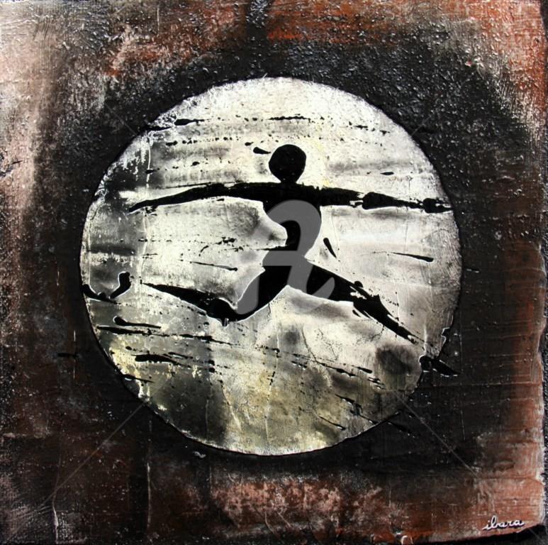 Henri Ibara - une-ombre-peinture-d-ibara-acrylique-sur-toile-format-30cm-sur-30cm-encadre.jpg