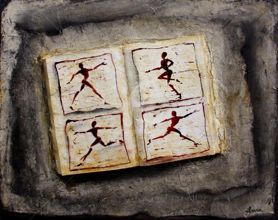 Henri Ibara - livre-objet-ecriture-du-mouvement-par-ibara-acrylique-et-encre-rouge.jpg
