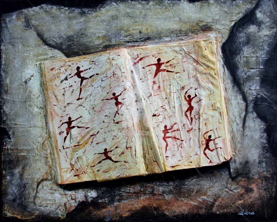 Henri Ibara - livre-objet-n-2-ecriture-du-mouvement-par-ibara-acrylique-et-encre-rouge.jpg