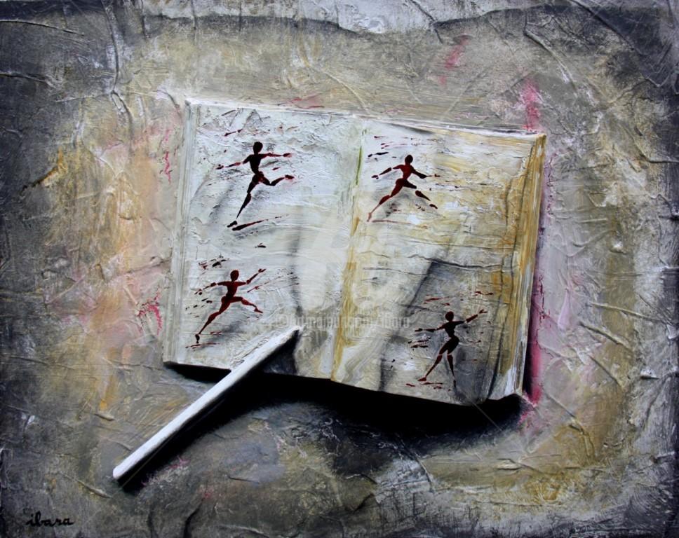 Henri Ibara - livre-objet-n-5-ecriture-du-mouvement-par-ibara-acrylique-et-encre-rouge.jpg