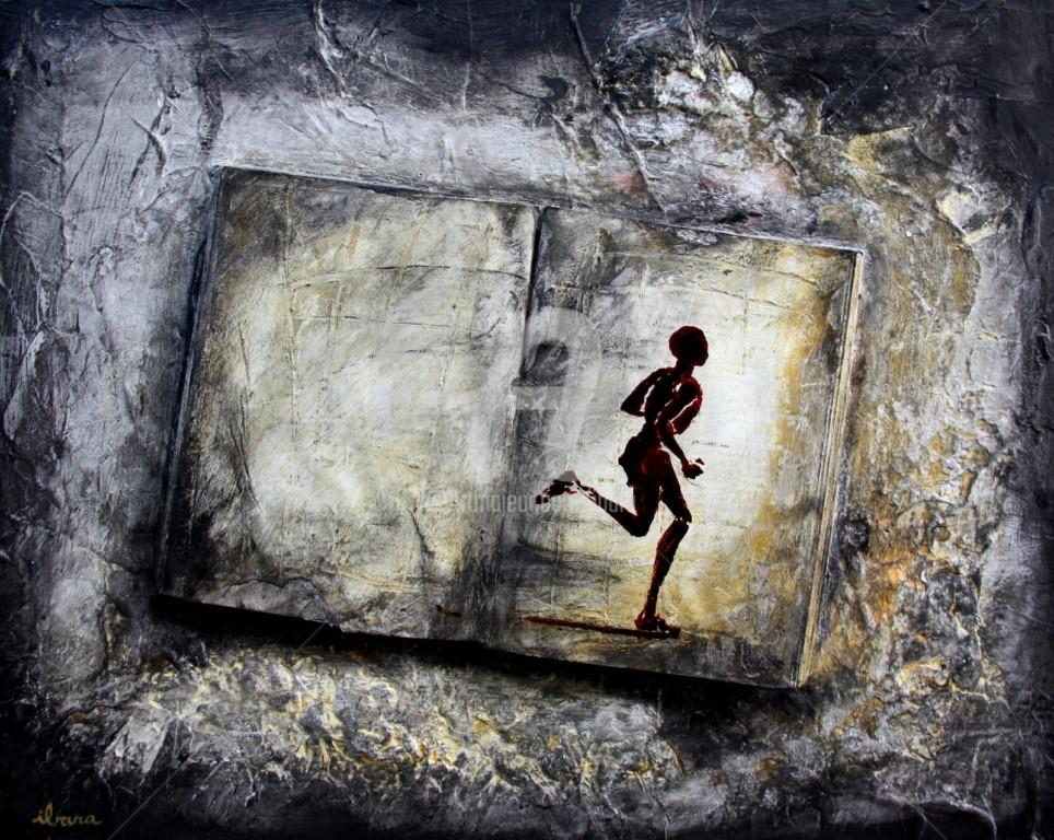 Henri Ibara - livre-objet-n-7-ecriture-du-mouvement-par-ibara-acrylique-et-encre-rouge-format-50cm-sur-40cm.jpg