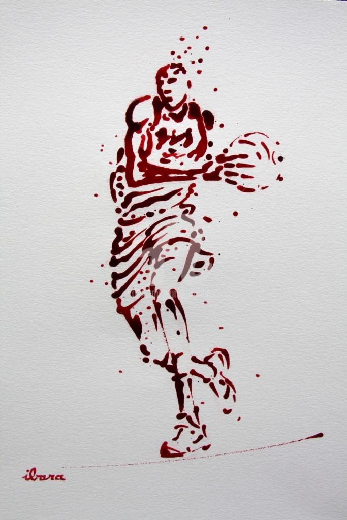 Henri Ibara - basket-n-17-dessin-d-ibara-a-l-encre-rouge-et-sanguine-sur-papier-aquarelle-300gr-format-30cm-sur-42cm.jpg