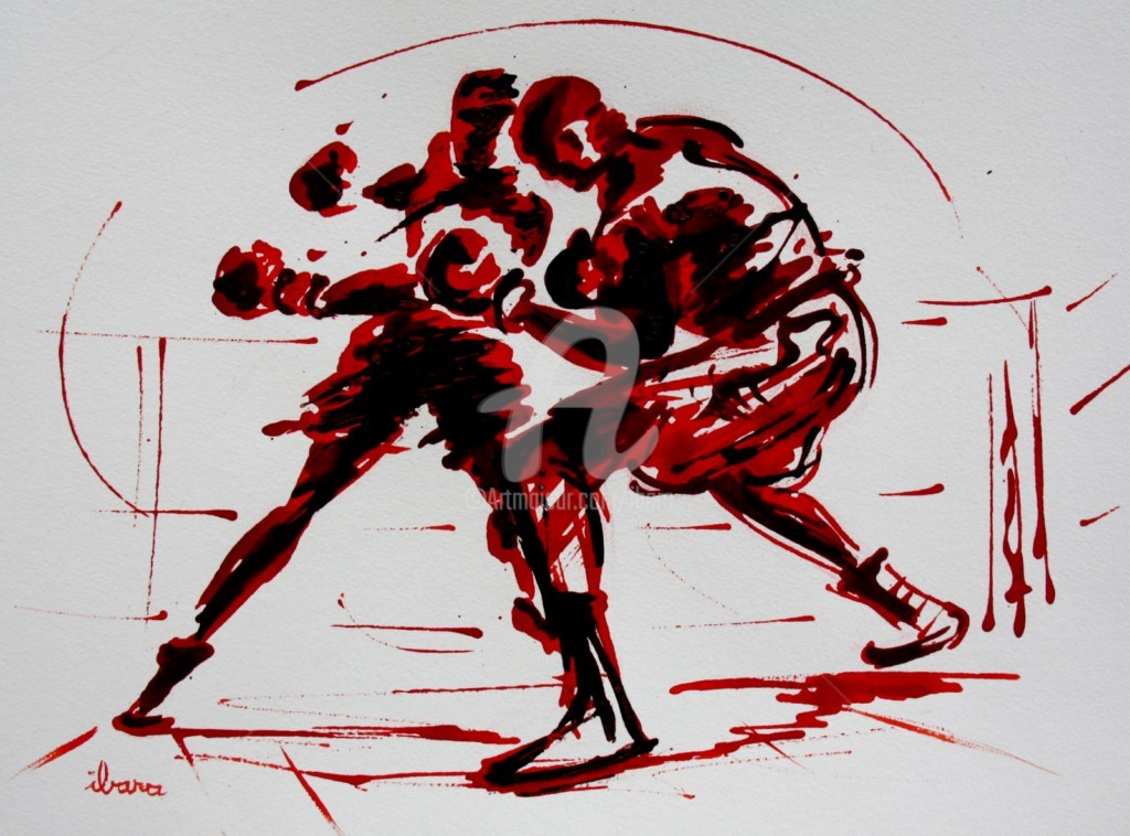 Henri Ibara - boxe-n-8-dessin à l'ence Henri Ibara
