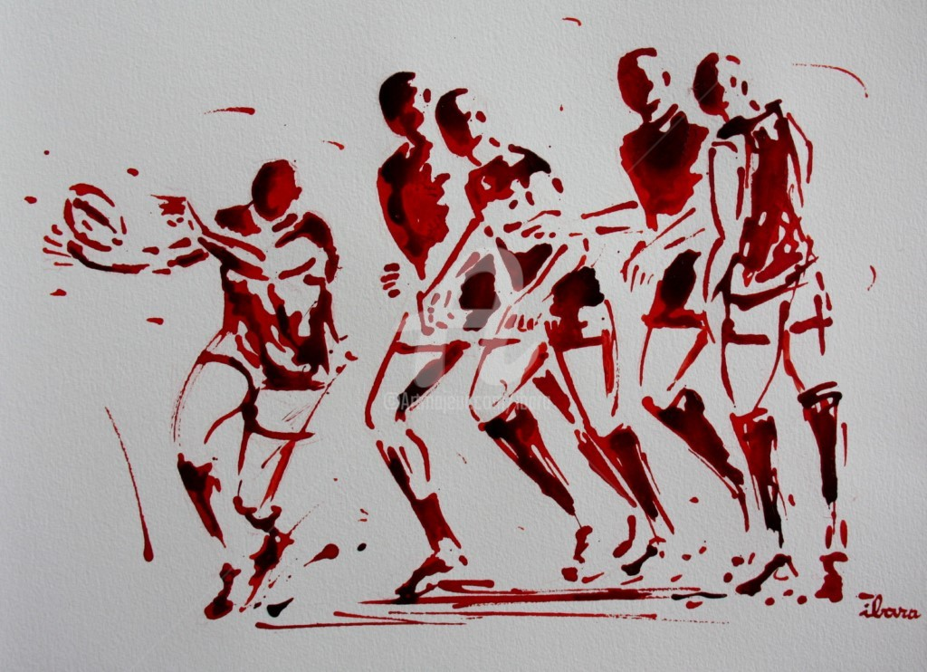Henri Ibara - rugby-n-50-dessin-d-ibara-encre-rouge-sur-papier-aquarelle-format-30cm-sur-42cm.jpg